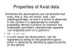 properties of axial data