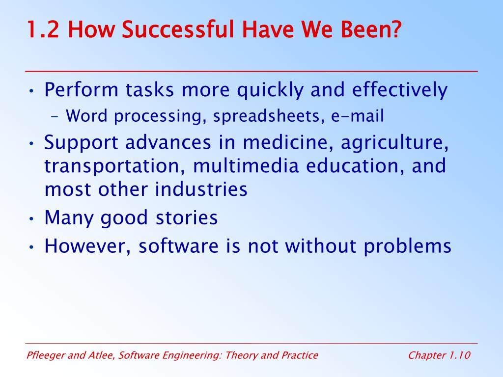 1.2 How Successful Have We Been?