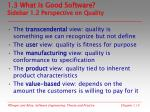 1 3 what is good software sidebar 1 2 perspective on quality