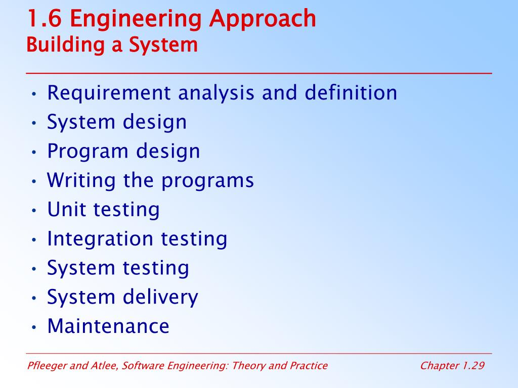1.6 Engineering Approach