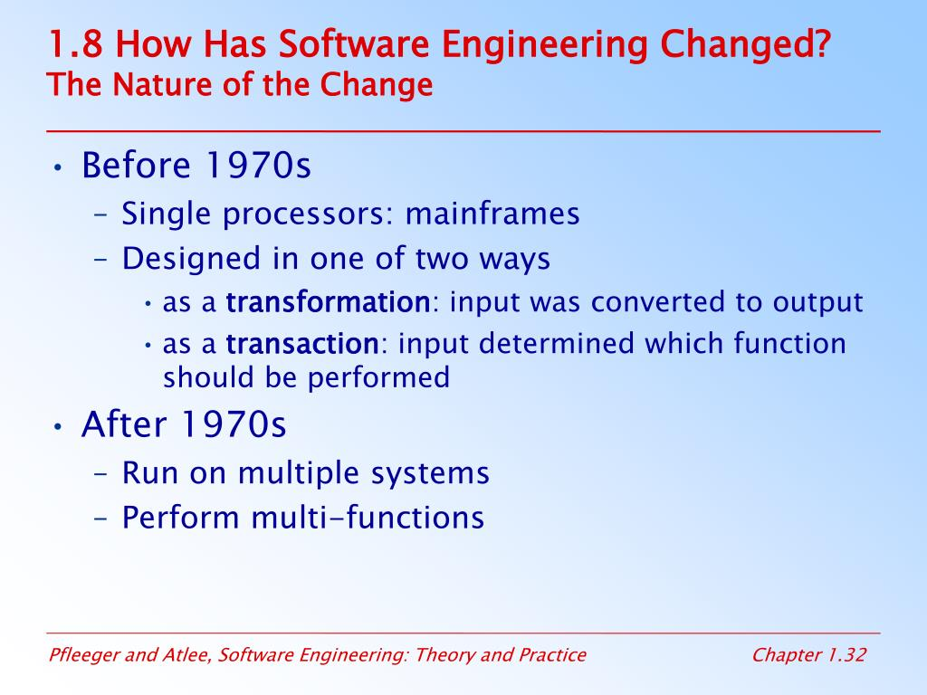 1.8 How Has Software Engineering Changed?