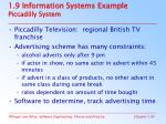 1 9 information systems example piccadilly system