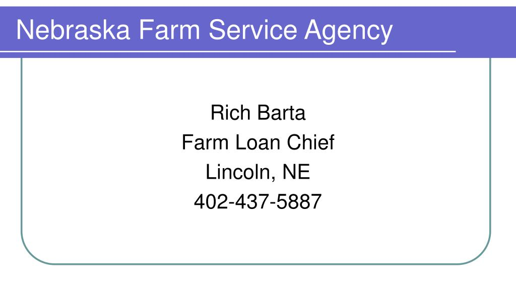 nebraska farm service agency l.