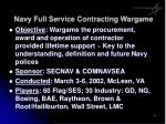 navy full service contracting wargame