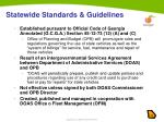 statewide standards guidelines