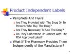 product independent labels