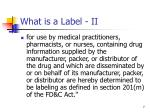 what is a label ii