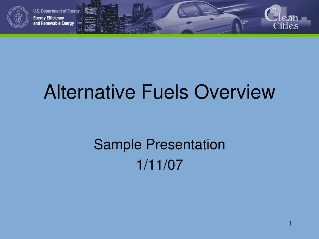 alternative fuels overview l.