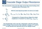 cascode stage output resistance