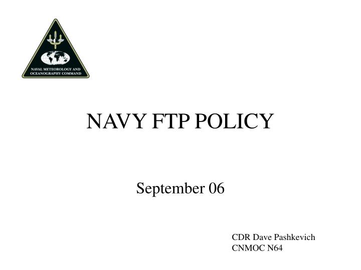 navy ftp policy n.