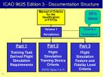 icao 9625 edition 3 documentation structure