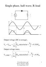 single phase half wave r load