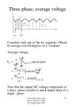 three phase average voltage