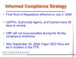 informed compliance strategy