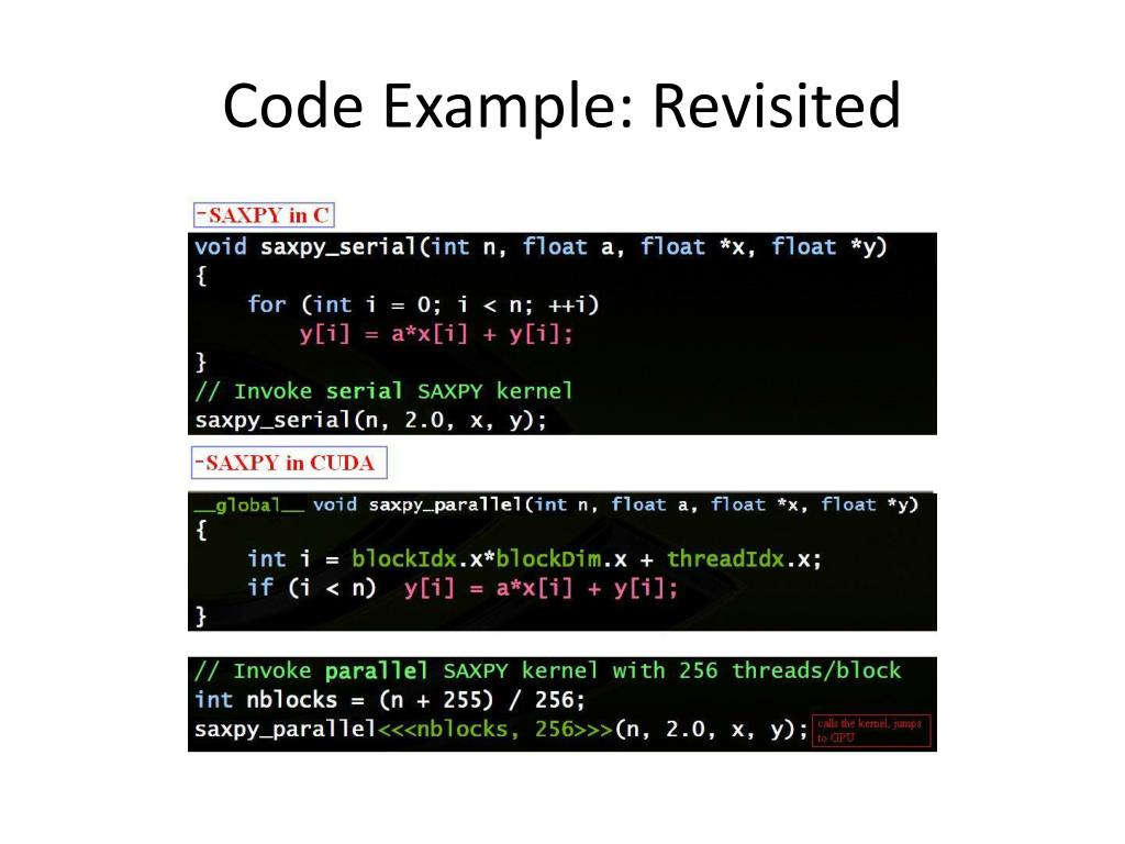 Code Example: Revisited