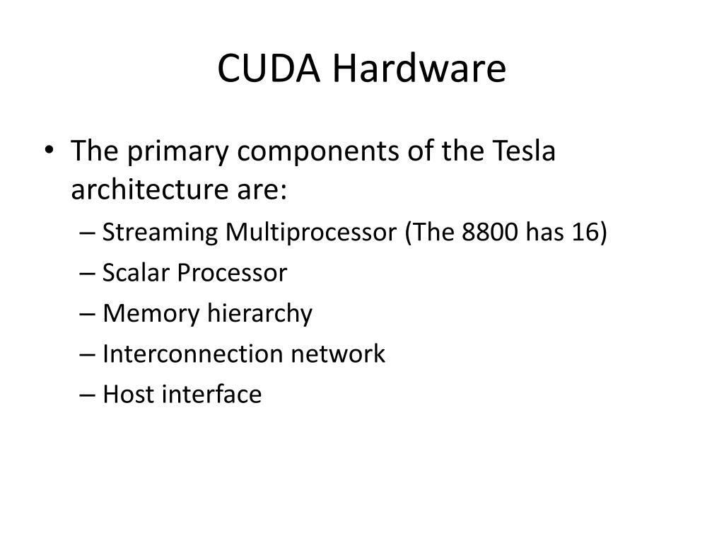CUDA Hardware