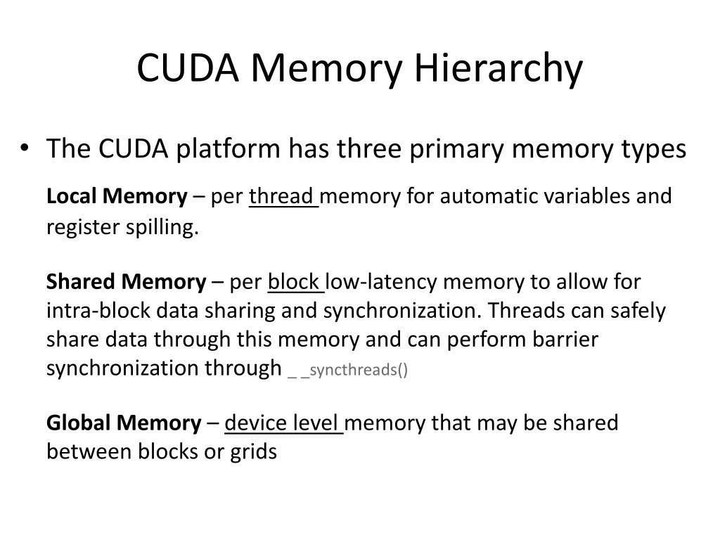 CUDA Memory Hierarchy