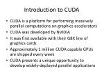 introduction to cuda