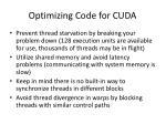 optimizing code for cuda