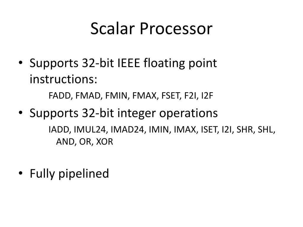 Scalar Processor
