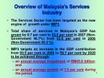 overview of malaysia s services industry