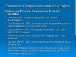 economic cooperation and integration