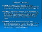growth triangle
