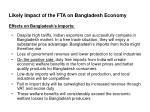likely impact of the fta on bangladesh economy