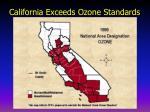 california exceeds ozone standards