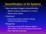 decertification of all systems