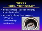 module 1 phase i vapor recovery