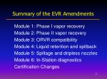 summary of the evr amendments