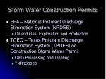 storm water construction permits