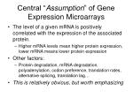 central assumption of gene expression microarrays