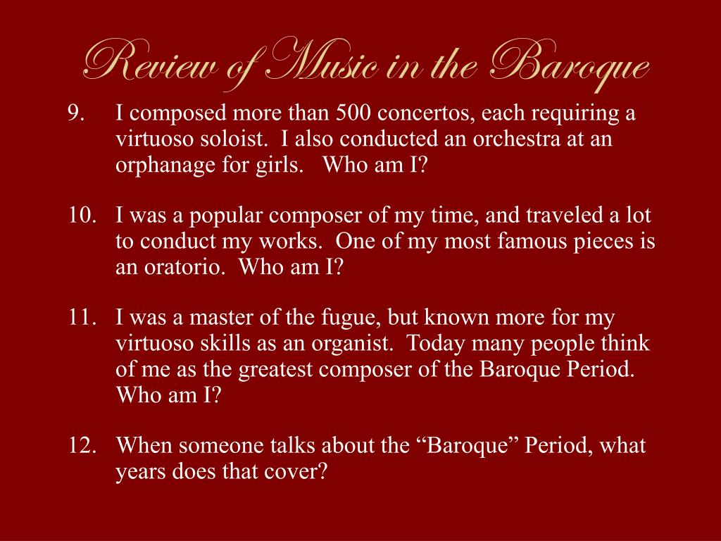 the baroque period and famous composers essay