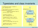 typestates and class invariants9