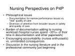 nursing perspectives on p4p