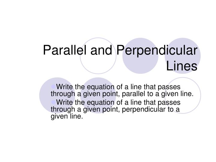 parallel and perpendicular lines n.