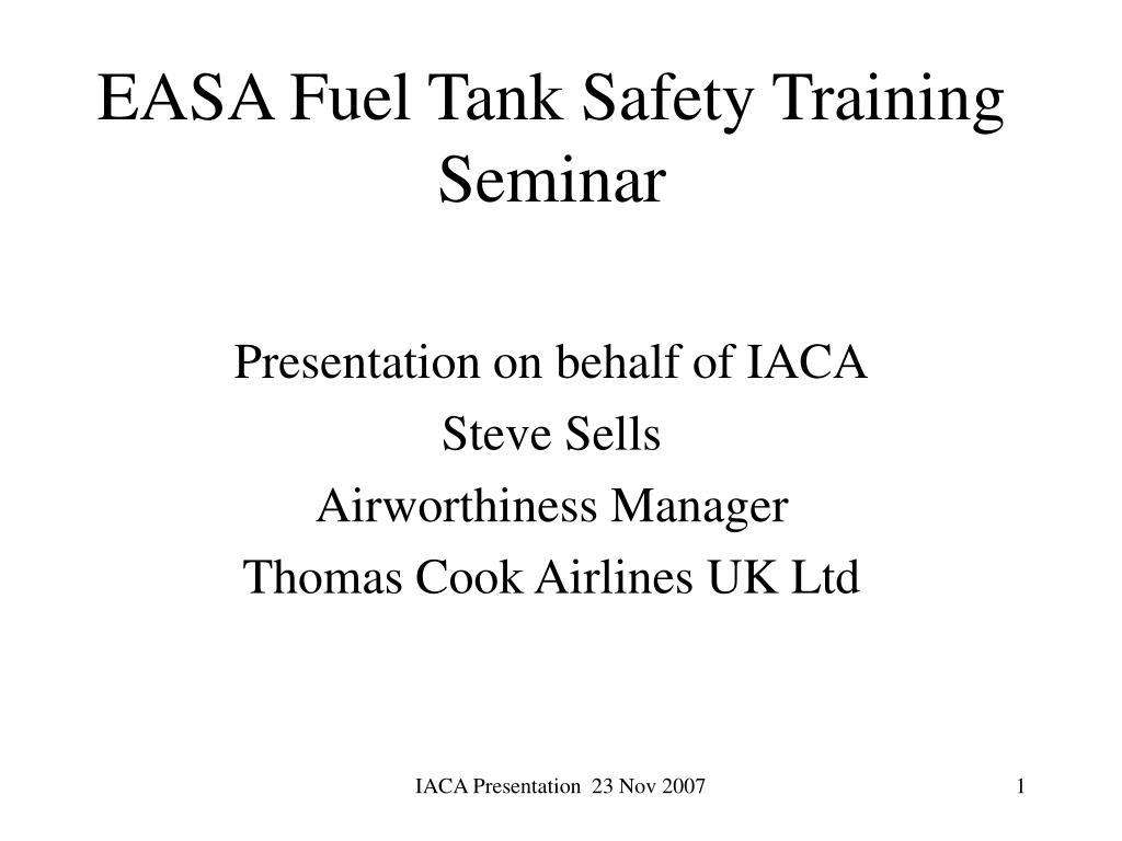 easa fuel tank safety training seminar l.