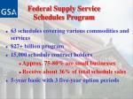federal supply service schedules program