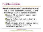 flex the schedule