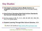 key studies