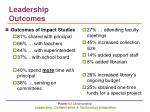 leadership outcomes