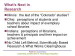 what s next in research