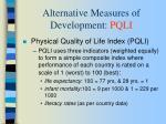 alternative measures of development pqli