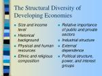 the structural diversity of developing economies26