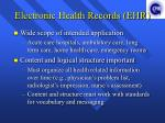 electronic health records ehr