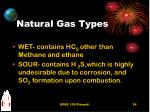 natural gas types