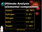 ultimate analysis elemental composition