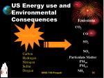 us energy use and environmental consequences
